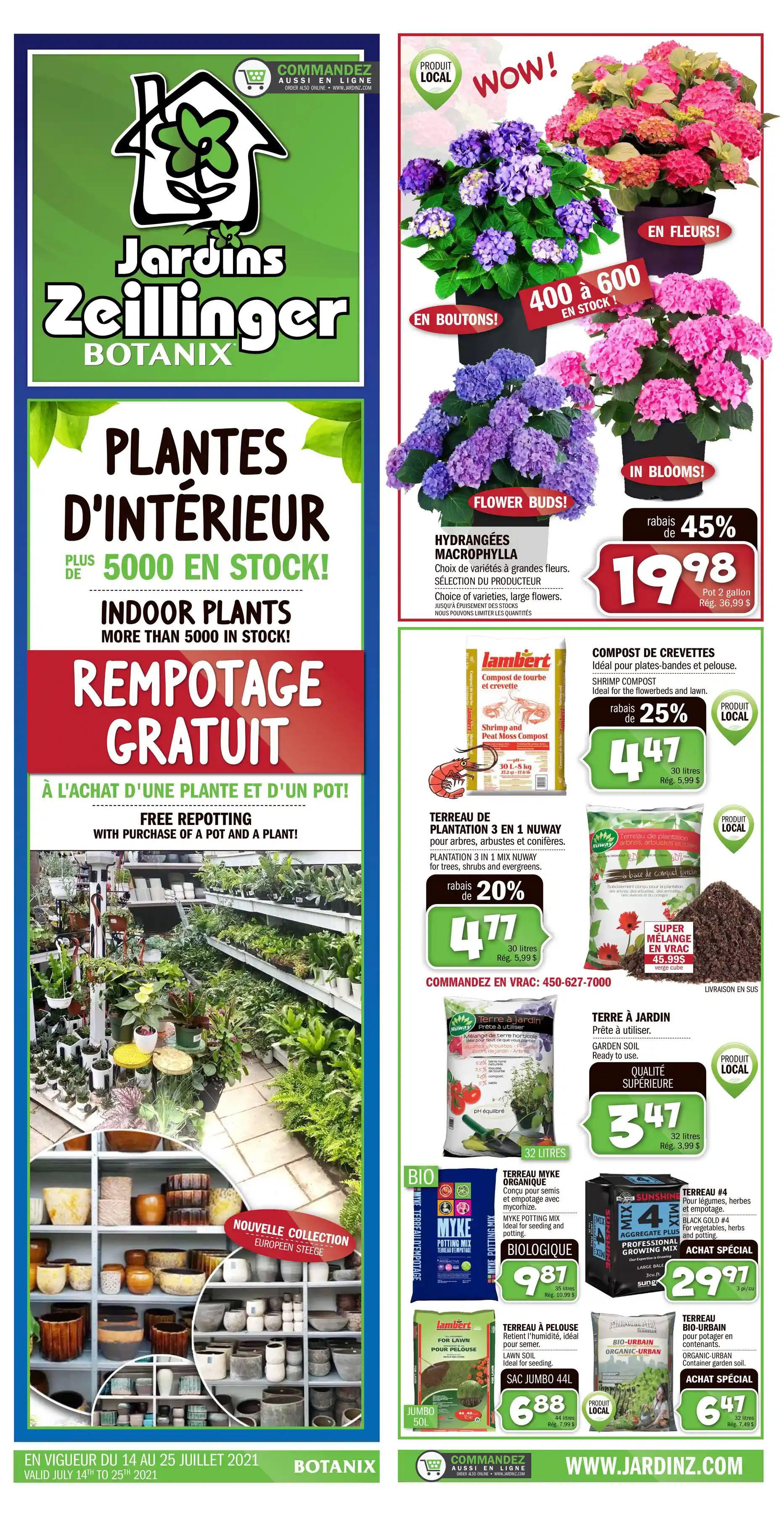 Circulaire Jardins Zeillinger Du 14 Au 25 Juillet 2021 - Page 1