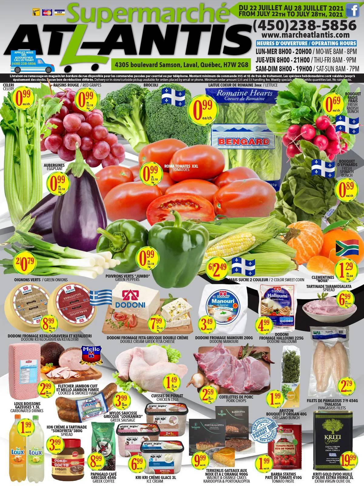Circulaire Supermarché Atlantis Du 22 Au 28 Juillet 2021 - Page 1